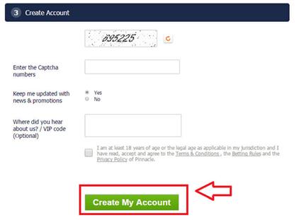 Регистрация в Pinnacle - Създаване на акаунт